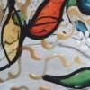 Cloche verre peint PF