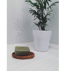 Porte savon en bois d'olivier - ovale