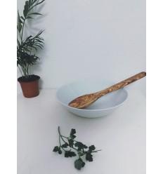 Spatule pleine et courbée en bois d'olivier