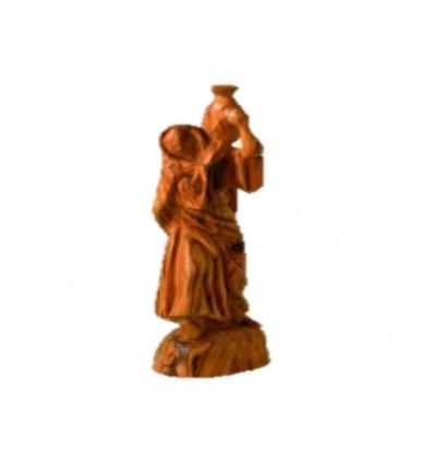 Samaritaine sculpté en bois d'olivier
