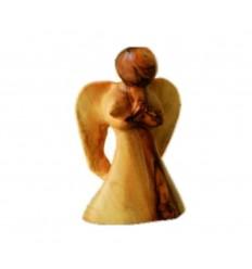 Ange en prière PF sculpté en bois d'olivier